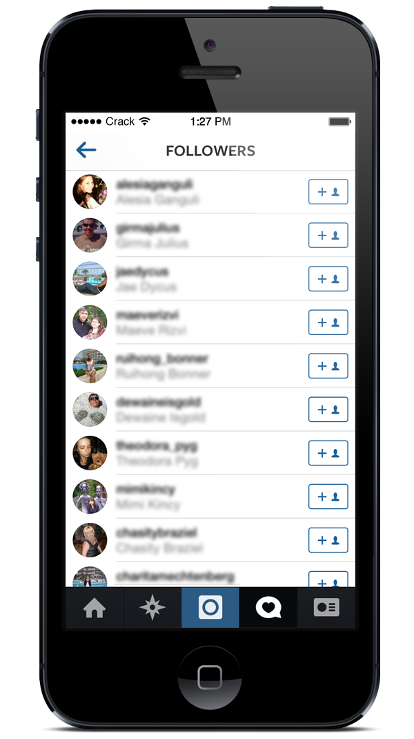 screenshot of free followers
